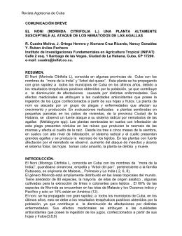 El noni (Morinda citrifolia l.)