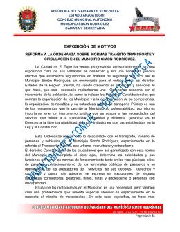 06 Ordenanza sobre Normas de Transito y Transporte 2010 El Tigre