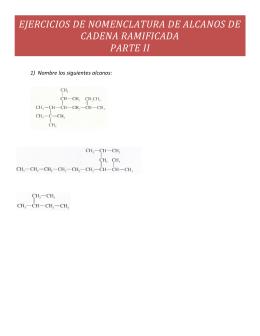 ejercicios de nomenclatura de alcanos de cadena ramificada parte ii