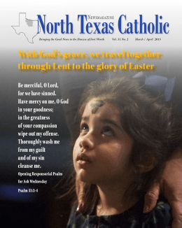 Mar. - April - North Texas Catholic