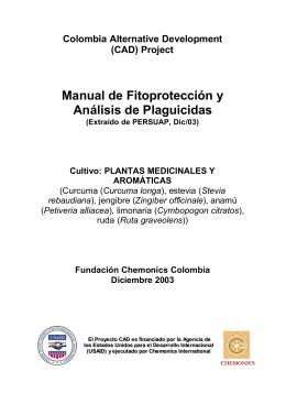 Fundación Chenobics 2003 Manual cultivos plantas medicinales y