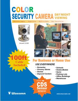 SECURITY CAMERA COLOR