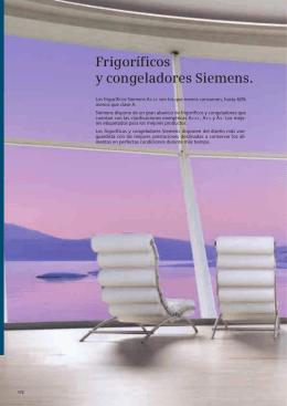 Frigoríficos y congeladores Siemens.