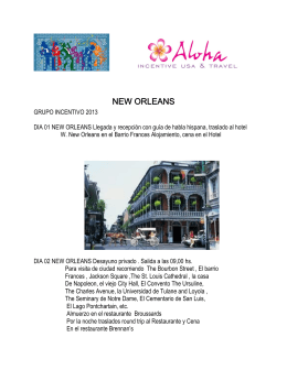 NEW ORLEANS - Aloha :: Incentive USA & Travel