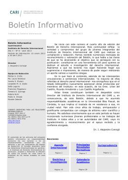 Proyecto de Newsletter - Consejo Argentino para las Relaciones