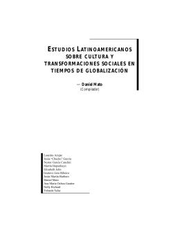 estudios latinoamericanos sobre cultura y transformaciones sociales