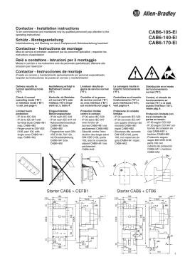CAB6-105-EI CAB6-140-EI CAB6-170-EI