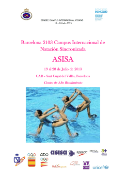 Barcelona 2103 Campus Internacional de Natación Sincronizada
