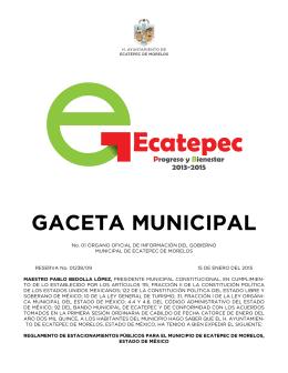 GACETA MUNICIPAL - H. Ayuntamiento de Ecatepec de Morelos