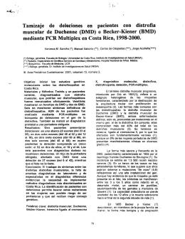Tamizaje de deleciones en pacientes con distrofia muscular de