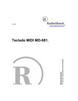 Teclado MIDI MD-981.