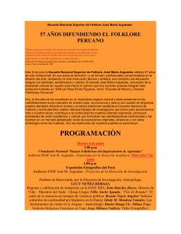 Escuela Nacional Superior de Folklore José María