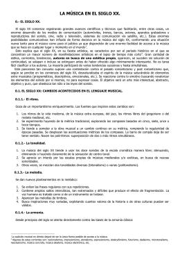 LA MÚSICA EN EL SIGLO XX.
