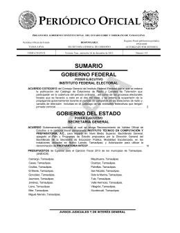 PERIÓDICO OFICIAL - Periodico Oficial