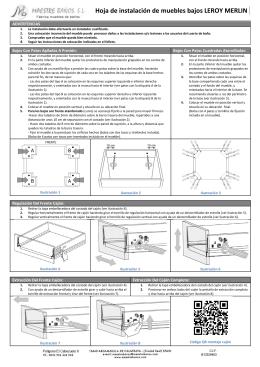 Hoja de instalación de muebles bajos LEROY MERLIN