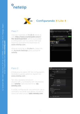 Configurando X-Lite 4