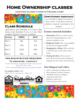 Home Ownership classes