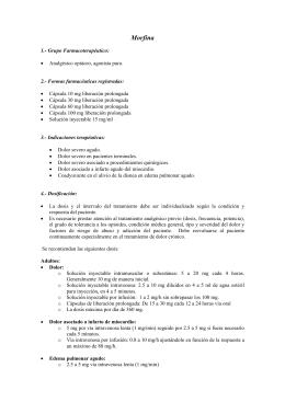Morfina - Ministerio de Salud