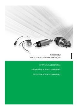 Sección 2 Partes de Motores de Arranque