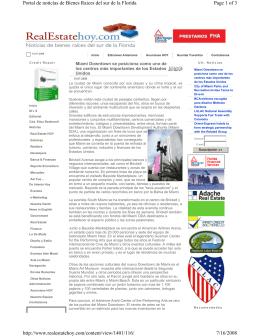 Page 1 of 3 Portal de noticias de Bienes Raices del sur de la Florida