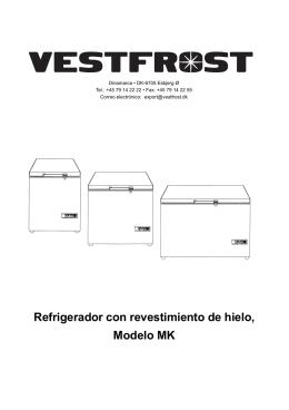 Refrigerador con revestimiento de hielo, Modelo MK