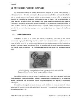 2.2 PROCESOS DE FUNDICIÓN DE METALES