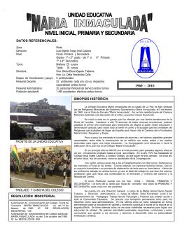 datos referenciales - Colegio María Inmaculada