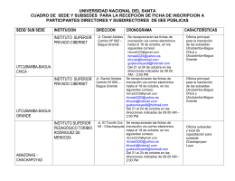 Dirección de Sedes Universidad Nacional del Santa