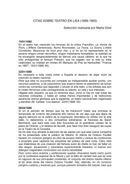 Crónica teatral - Traducciones literarias en la prensa española