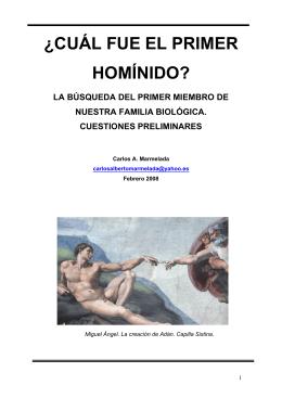 ¿CUÁL FUE EL PRIMER HOMÍNIDO?