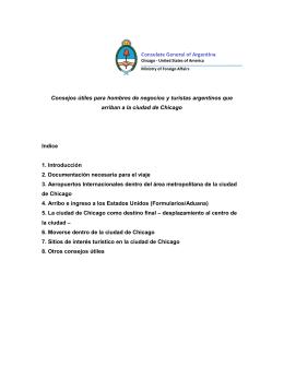 Guia para los hombres de negocios y los turistas argentinos que