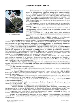 TRANSILVANIA: SIBIU - Rumtor. Viajes a Rumania
