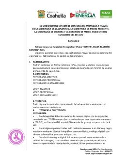 EL GOBIERNO DEL ESTADO DE COAHUILA DE ZARAGOZA A