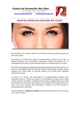 15 MASTER EN ESPECIALIZACION DE CEJAS
