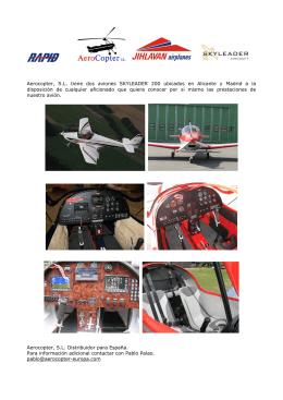 Aerocopter, S.L. tiene dos aviones SKYLEADER