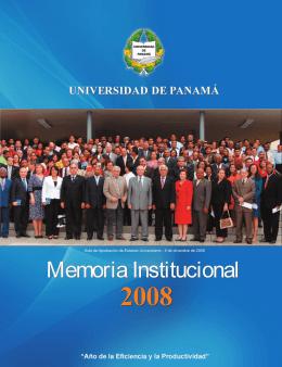 Año 2008 - Universidad de Panamá