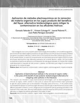 Aplicación de métodos electroquímicos en la remoción de materia