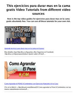 Z ejercicios para durar mas en la cama gratis PDF video