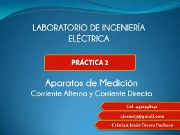 LABORATORIO DE INGENIERÍA ELÉCTRICA Cristian Jesús Torres