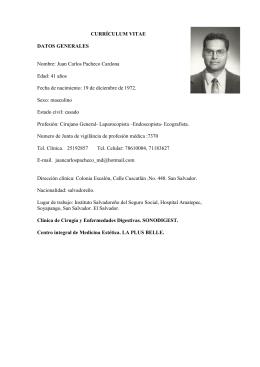 CV Dr. Juan Carlos Pacheco Cardona