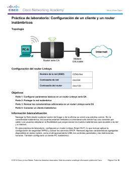 Configuración de un cliente y un router inalámbricos