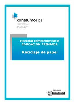 Material de apoyo del taller `Reciclaje de papel`