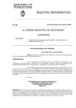 N° 19 - Ministerio de Seguridad