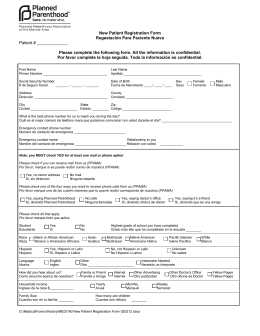 MEDICAL HISTORY FORM FOR ECPS WITH A DEFERRED EXAM