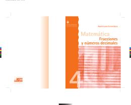 Matemática. Fracciones y números decimales. 4º