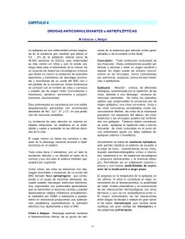 CAPITULO 4 DROGAS ANTICONVULSIVANTES o ANTIEPILÉPTICAS