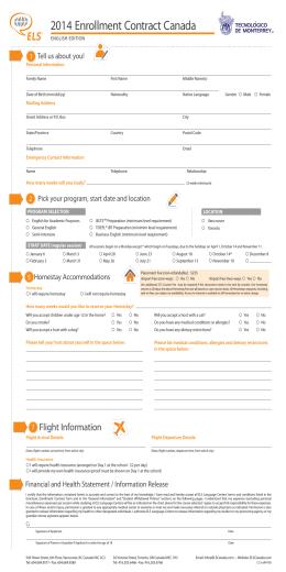 2014 Enrollment Contract Canada