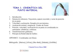 TEMA 1. CINEMÁTICA DEL PUNTO MATERIAL - OCW-UV