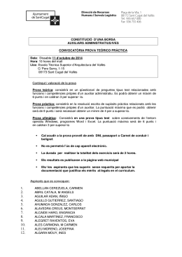 Convocatòria prova teòrico pràctica PDF, 271.3 Kb