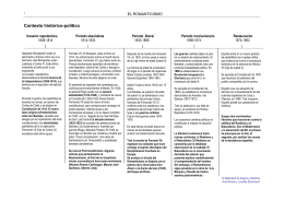 Contexto histórico-político  - Materiales de Lengua y Literatura